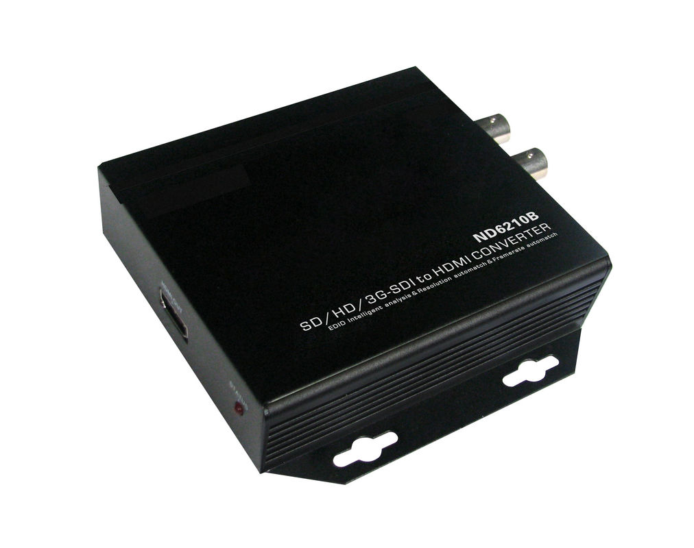 Portable SD / HD Fiber Optic Transceiver 12V DC Support 1080P With HDMI Port