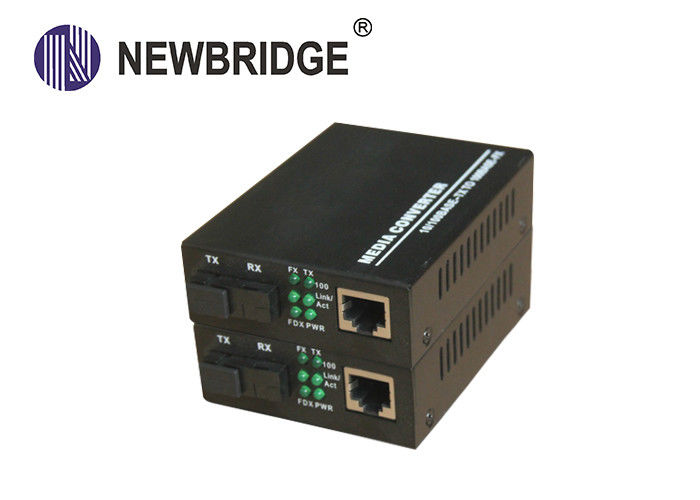 Single Fiber Single Mode 10/100M 20km Fiber Optic to 1 Rj45 Media Converter